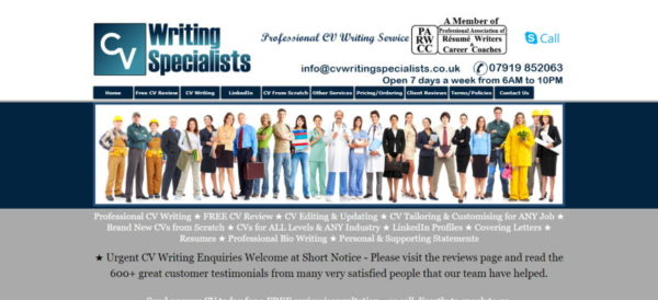 CVWritingSpecialists.co.uk